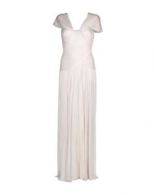 Длинное платье MARIA LUCIA HOHAN. Цвет: белый