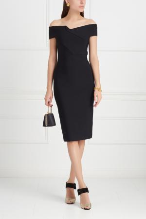 Однотонное платье Belvedere Roland Mouret. Цвет: черный