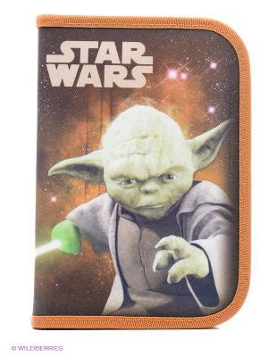 Пенал с ассортиментом Star Wars Scooli. Цвет: оранжевый, черный