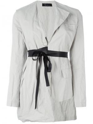 Асимметричный пиджак Area Di Barbara Bologna. Цвет: белый