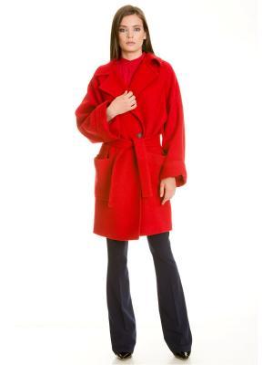 Пальто Tsurpal. Цвет: красный
