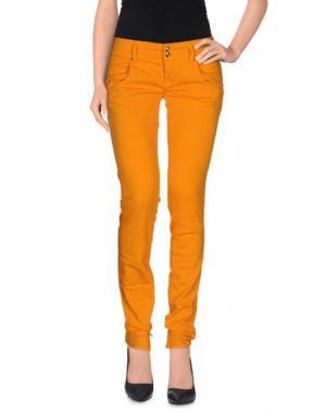 Повседневные брюки CYCLE. Цвет: оранжевый