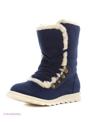 Ботинки Oodji. Цвет: темно-синий