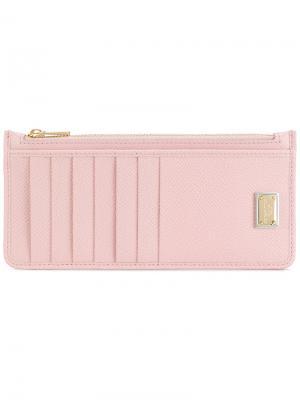 Фактурная визитница Dolce & Gabbana. Цвет: розовый и фиолетовый