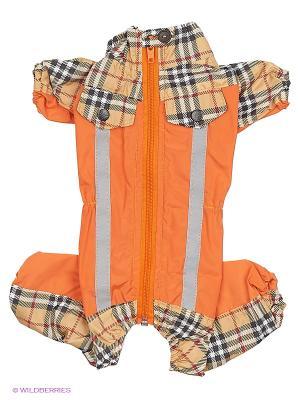 Дождевик холодный (Йоркширский терьер №2), девочка ТУЗИК. Цвет: оранжевый