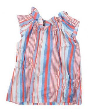 Блузка MIMISOL. Цвет: небесно-голубой