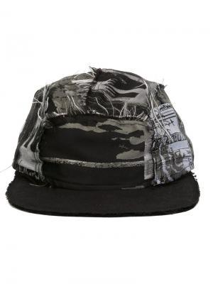 Жаккардовая кепка Liam Hodges. Цвет: серый