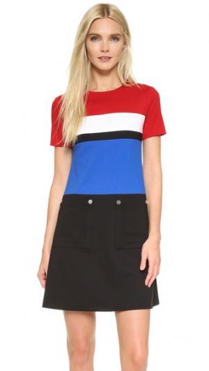 Платье Pledge Lisa Perry. Цвет: красный/голубой/черный/белый