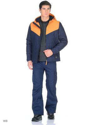Куртка O'Neill. Цвет: синий, оранжевый