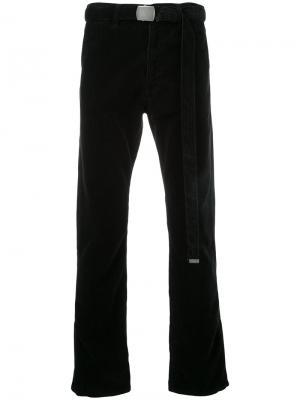 Вельветовые брюки с поясом Doublet. Цвет: чёрный