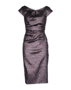 Платье до колена TALBOT RUNHOF. Цвет: фиолетовый