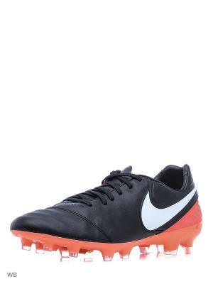 Бутсы TIEMPO LEGACY II FG Nike. Цвет: черный, белый, красный