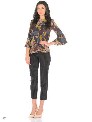 Блузка Motivi. Цвет: бронзовый, темно-коричневый, хаки, серый