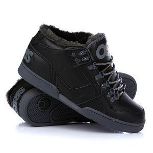 Кеды кроссовки утепленные  Nyc 83 Mid Shr Black/Charcoal/Charcoal Osiris. Цвет: черный