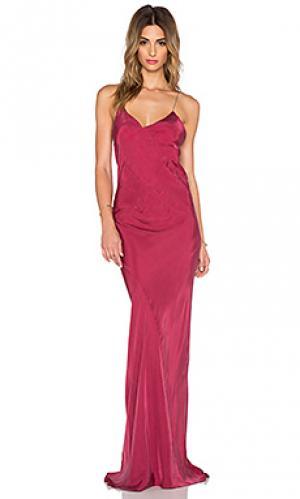Платье с длинным вырезом TITANIA INGLIS. Цвет: красный
