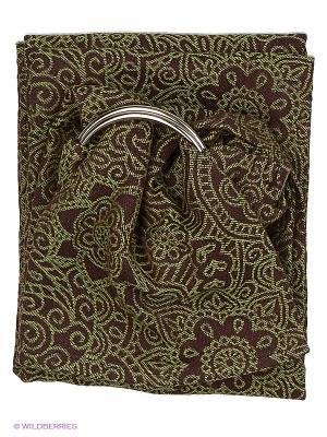 Слинг с кольцами Mendi Antique Mum`s Era. Цвет: зеленый, коричневый
