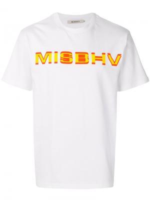 Футболка с графическим принтом Misbhv. Цвет: белый