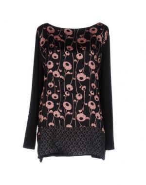 Блузка 1-ONE. Цвет: черный