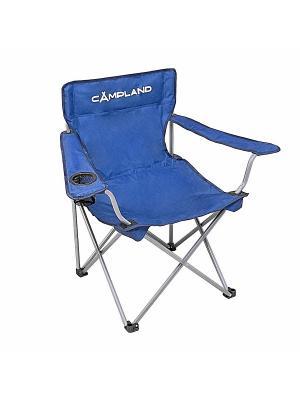Кресло складное с подлокотниками CAMPLAND. Цвет: серебристый, синий
