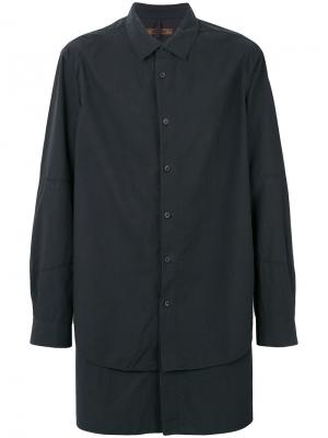 Удлиненная многослойная рубашка Ziggy Chen. Цвет: чёрный