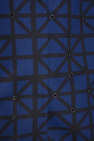 Бомбер с люверсами Chapurin. Цвет: синий, черный