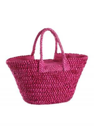 Сумка Collezione. Цвет: ярко-розовый