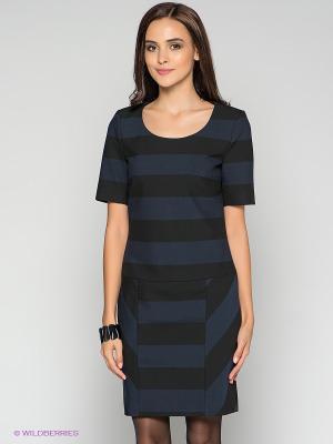 Платье MEXX. Цвет: темно-синий, черный