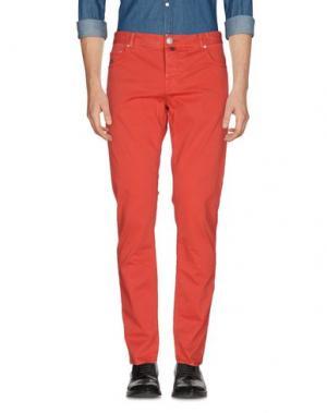 Повседневные брюки LUIGI BORRELLI NAPOLI. Цвет: красный