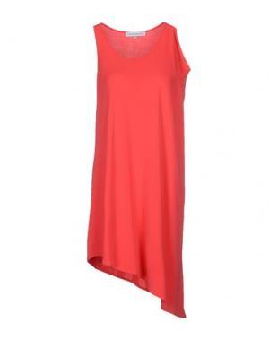 Короткое платье AMAYA ARZUAGA MAILLE. Цвет: коралловый
