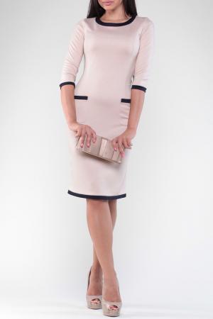 Платье REBECCA TATTI. Цвет: бежевый, темно-синий