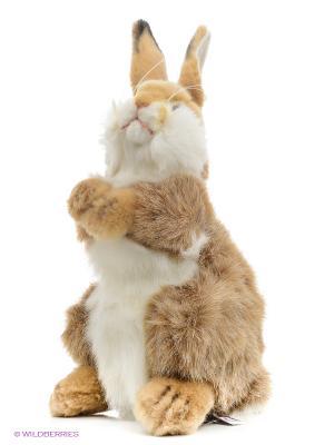 Кролик, 30 см Hansa. Цвет: светло-коричневый, светло-бежевый