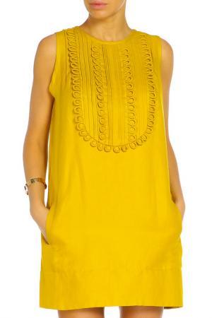 Платье ZHOR&NEMA. Цвет: желтый