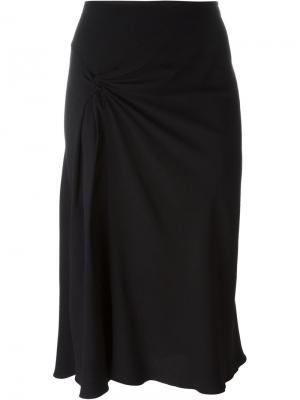 Юбка со сборкой спереди Christian Dior Vintage. Цвет: чёрный