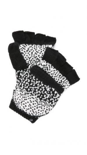 Текстурированные митенки Dot с эффектом «омбре» Plush