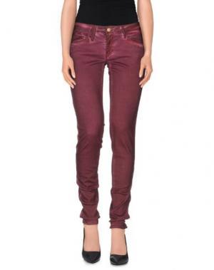 Повседневные брюки LE TEMPS DES CERISES. Цвет: красно-коричневый