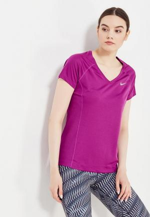 Футболка спортивная Nike. Цвет: фиолетовый