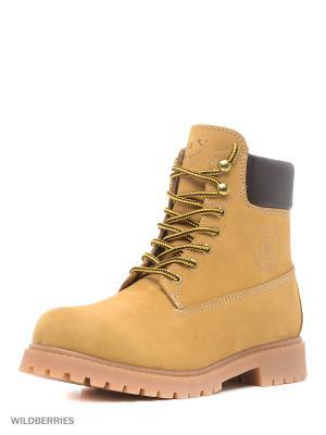 Ботинки GUT. Цвет: оливковый, светло-коричневый