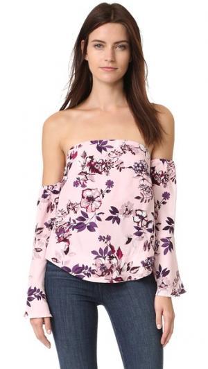 Блуза с открытыми плечами Florence Piamita. Цвет: floralia rosa