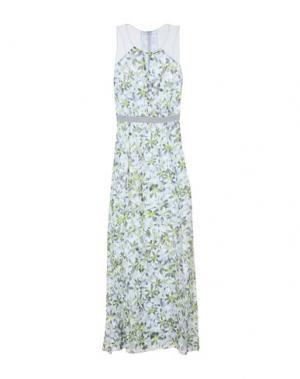 Длинное платье PATRIZIA PEPE SERA. Цвет: светло-серый