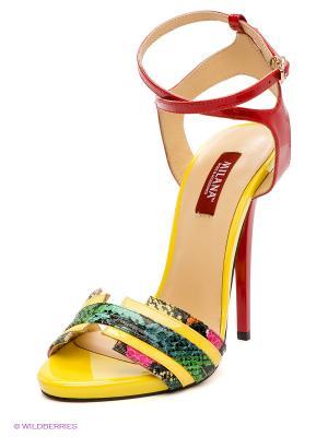 Босоножки MILANA. Цвет: желтый, красный, зеленый