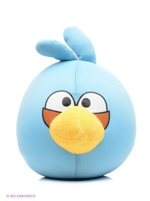 EXPETRO Подушка-игрушка антистресс Злая птица Экспетро. Цвет: синий