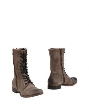 Полусапоги и высокие ботинки STRATEGIA. Цвет: серый