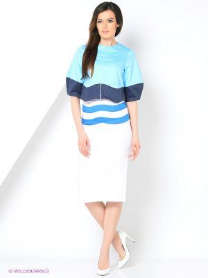 Жакет Gloss. Цвет: голубой, темно-синий