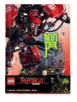 Книга для записей (96 листов, линейка)  с резинкой LEGO Ninjago Movie (Лего Фильм: Ниндзяго)-Kai Lego.. Цвет: зеленый, желтый, красный