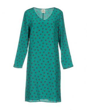 Платье до колена ATTIC AND BARN. Цвет: зеленый