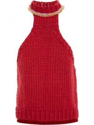 Вязаный топ Wool And The Gang. Цвет: красный
