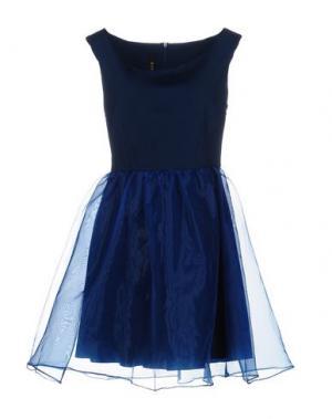 Короткое платье LUNATIC. Цвет: темно-синий