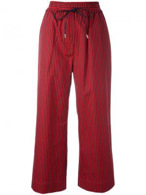 Полосатые укороченные брюки 3.1 Phillip Lim. Цвет: красный