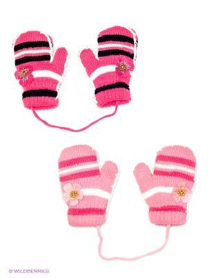 Варежки, 2 пары FOMAS. Цвет: коралловый, розовый