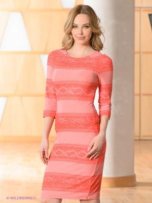Платье Vaide. Цвет: коралловый